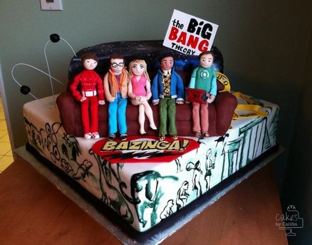 tarta de la serie the big bang theory