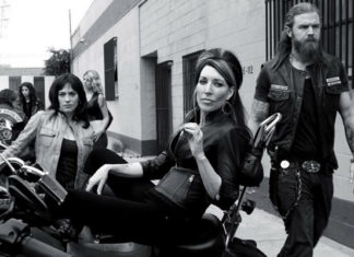 poster blanco y negro sons of anarchy