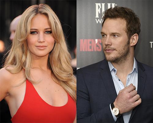Jennifer Lawrence y Chris Pratt