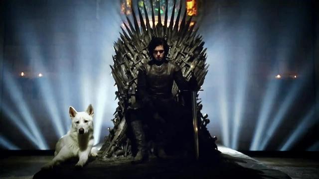 jon nieve en el trono de hiero