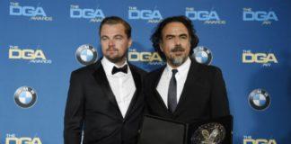 Alejandro González Iñárritu junto a Leonardo DiCaprio en los DGA Awards