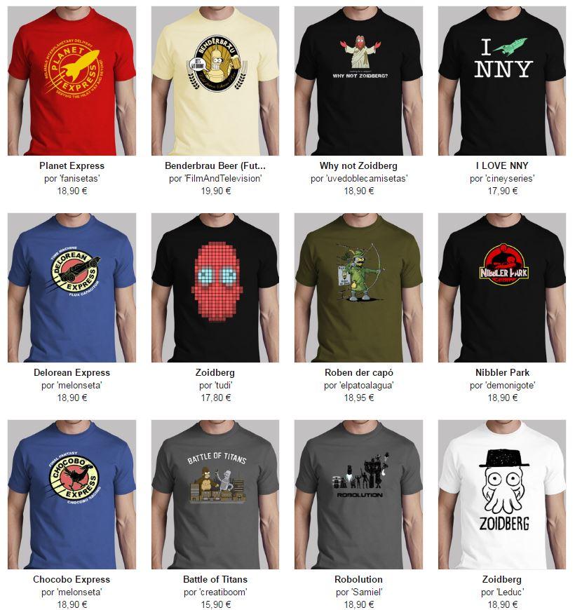 camisetas hombre futurama