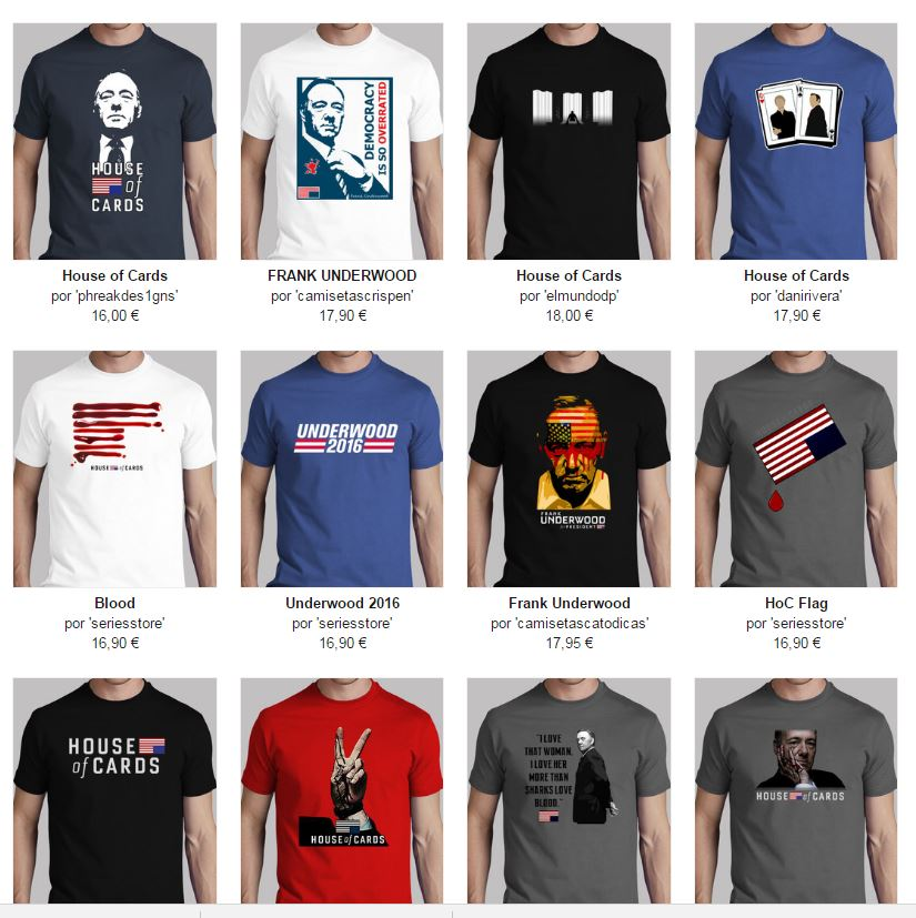 camisetas chico house of cards