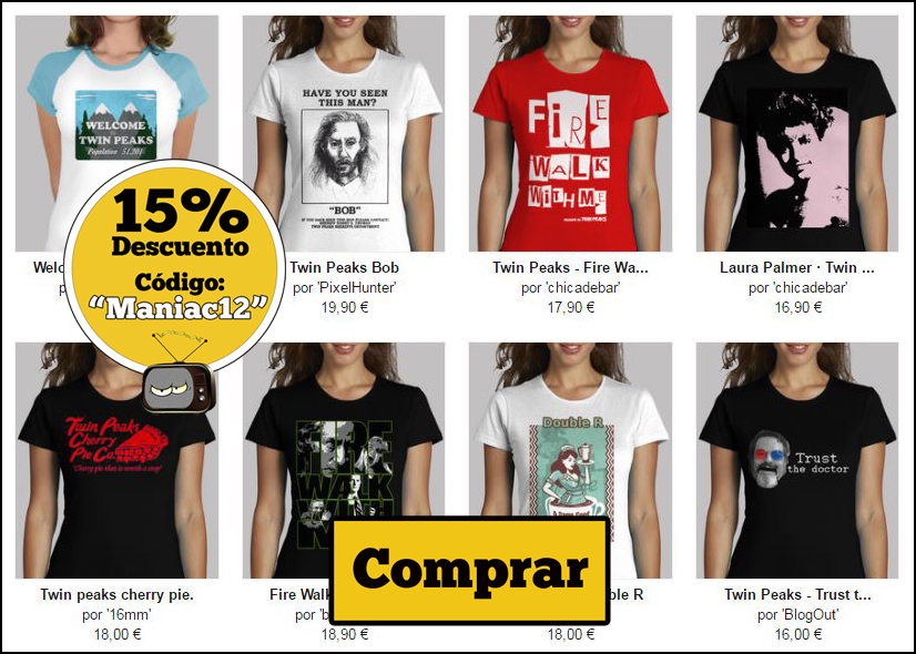 camisetas chica twin peaks