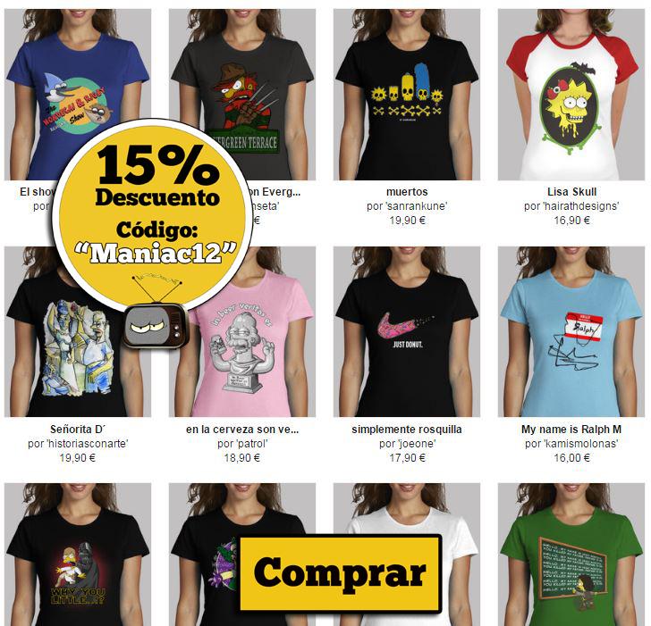 camisetas chica de Los Simpsons