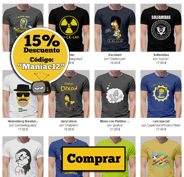 camisetas chico los simpson