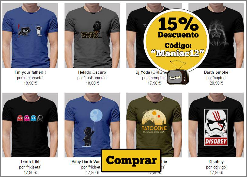 camisetas hombre star wars