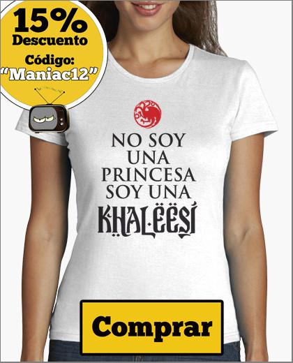 camiseta no soy una princesa soy una khaleesi