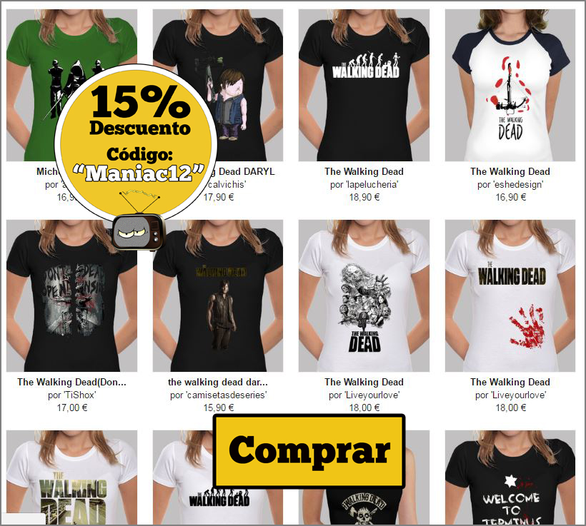 camisetas chica the walking dead