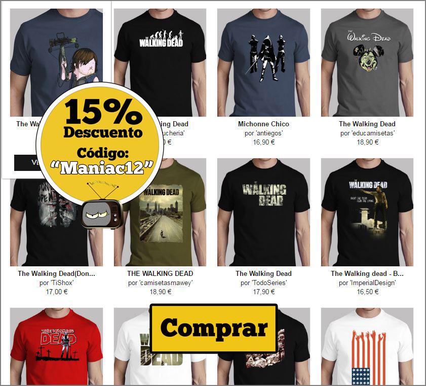 camisetas chico the walking dead