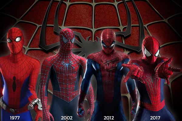 evolución de los trajes de spider-man