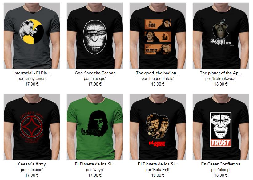 Camisetas chico de el planeta de los simios