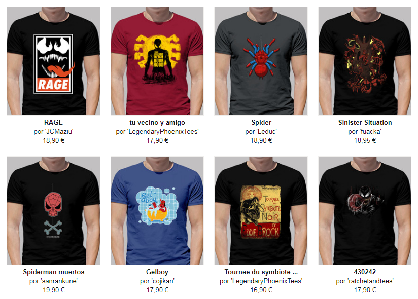 camisetas spiderman chico
