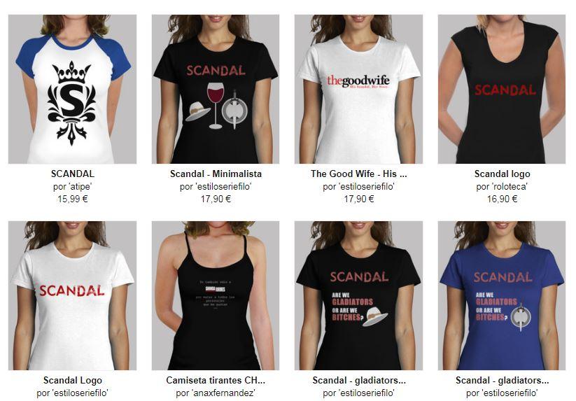 scandal camisetas chica