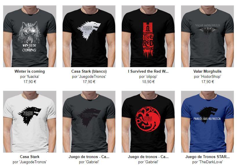 camisetas de chico de juego de tronos