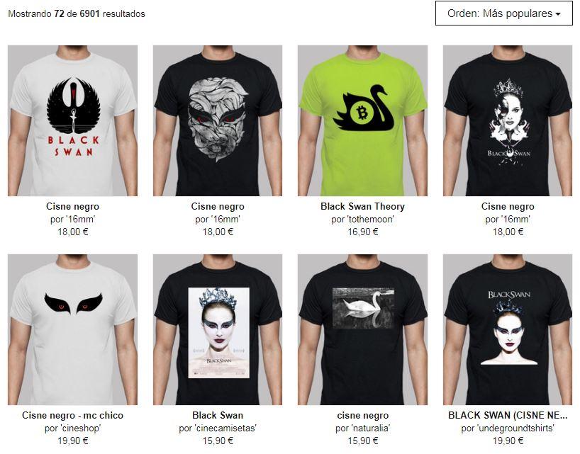 camisetas chico cisne negro