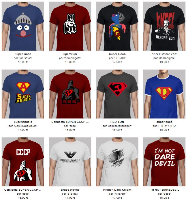 camisetas divertidas superman