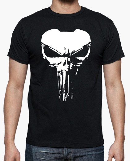 camiseta the punisher negro chico