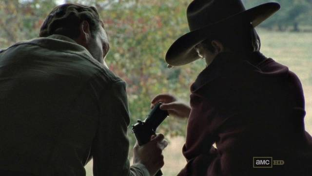 rick y carl episodio 2x12 the walking dead