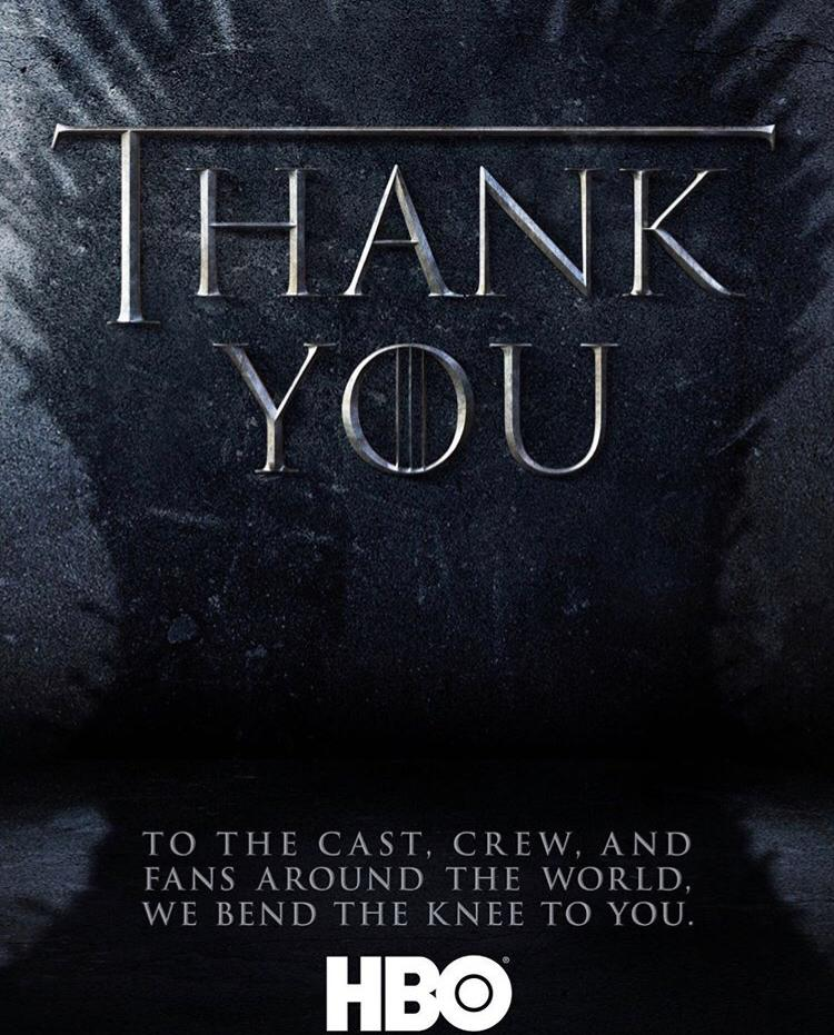thank you game of thrones
